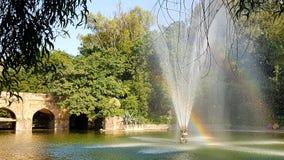 Tęcza w fontannie Obraz Royalty Free