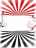tła czarny copyspace czerwieni zawijasy Obraz Royalty Free