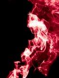 tła czarny czerwieni dym Obrazy Stock