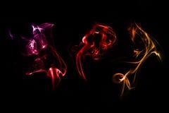 tła czarny czerwieni dym Fotografia Stock