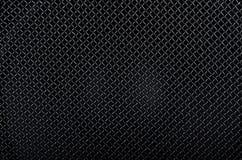 tła czarny grille metalu wzoru mówca Zdjęcia Stock