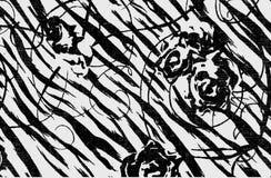 tła czarny karcianego projekta kwiatu fractal dobrego ogange plakatowy biel Fotografia Royalty Free