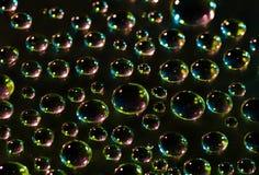 tła czarny kropelek woda Fotografia Royalty Free