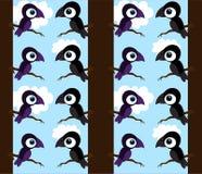 tła czarny wron purpur drzewo Obrazy Royalty Free