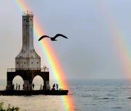 Tęcze i latarnie morskie Fotografia Stock