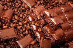 tła czekolady kawa Obraz Royalty Free