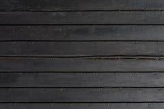 Tła czerni deski Zdjęcie Royalty Free