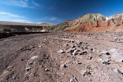 Tęczy dolina w Atacama pustyni w Chile Zdjęcie Royalty Free