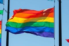 Tęczy flaga Fotografia Royalty Free
