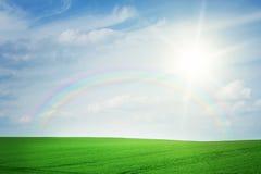 tęczy krajobrazowy lato Zdjęcie Royalty Free