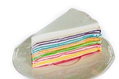 Tęczy krepy tort Obraz Stock