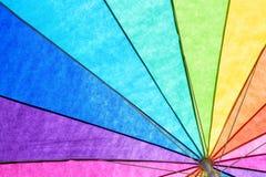 Tęczy lata Barwiony parasol Fotografia Royalty Free