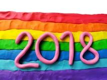 2018 tęczy plastelina Fotografia Royalty Free