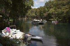 Tęczy rzeka przy Dunnellon Floryda usa Obraz Royalty Free
