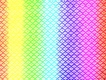 Tęczy tkaniny poliestrowa tekstura Obrazy Royalty Free