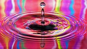 Tęczy wody kropla Fotografia Royalty Free