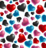 Tła 3D serca bezszwowy wzór, Wektorowa ilustracja royalty ilustracja