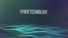 Tła 3d siatka Cyber technologii Ai techniki drutu sieci futurystyczny wireframe sztuczna inteligencja Cyber ochrona Zdjęcie Stock