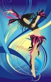 tła dancingowy dziewczyny ilustraci wektor Zdjęcie Stock