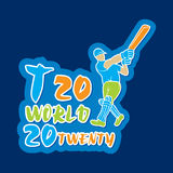 T20 de affiche van de veenmolwereldbeker desgin Stock Foto's