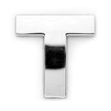 T - de brief van het Metaal Royalty-vrije Stock Afbeelding