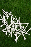 T de golfe brancos Fotografia de Stock