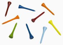 T de golfe coloridos fotografia de stock
