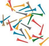 T de golfe coloridos múltiplos Fotos de Stock