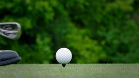 T dei giocatori di golf di golf stock footage