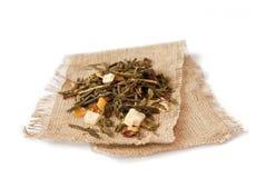 Tè della frutta su tela di canapa Immagine Stock Libera da Diritti