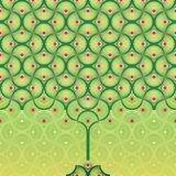 tła deseniowy bezszwowy lato drzewa wektor Obrazy Royalty Free