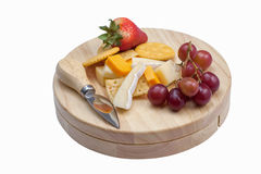 tła deskowego sera odosobniony biel Obraz Stock