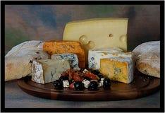 tła deskowego sera odosobniony biel fotografia stock