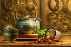Tè di erba asiatico Immagine Stock