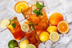 Tè di ghiaccio di rinfresco Immagini Stock