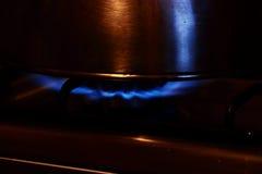 Bollitore & gas Fotografie Stock Libere da Diritti