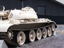 T55 die ontwierp Sovjetunie Tank in de Oorlog van Irak nu bij het Keizernoorden van het Oorlogsmuseum op de Salford-Kaden in Manc Stock Afbeeldingen