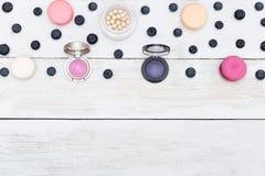 Tła dla twój projektów round macarons i Obraz Stock