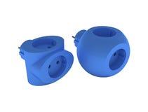 T do azul do soquete Imagens de Stock