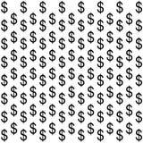 tła dolarowego znaka biel Zdjęcia Royalty Free