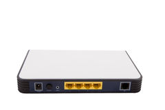 tła domowy sieci routera biel Zdjęcia Royalty Free
