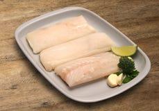 tła drewniany rybi surowy Zdjęcia Stock