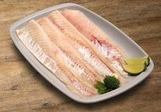 tła drewniany rybi surowy Zdjęcie Stock