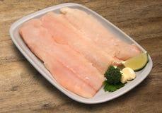 tła drewniany rybi surowy Zdjęcie Royalty Free