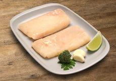 tła drewniany rybi surowy Jau ryba Zdjęcie Royalty Free