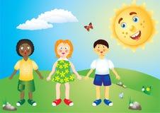 tła dzieci krajobrazowy lato Fotografia Royalty Free