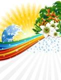 tła egzotyczny wakacji lato tropikalny Obrazy Royalty Free