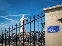 T the entrance of Notre Dame de la Garde,Marseille,France royalty free stock image