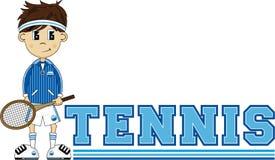 T est pour le tennis illustration de vecteur