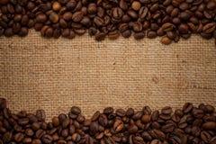 tła fasoli burlap kawa Obrazy Stock